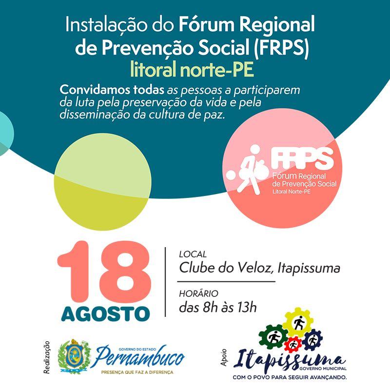 Convite Fórum Regional de Prevenção Social - 17082017