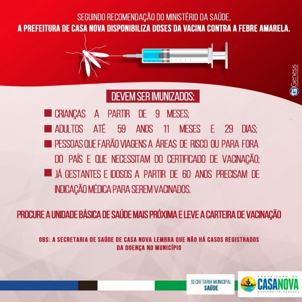 Campanha de vacinação contra febre amarela